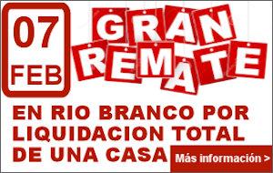 Gran remate por liquidación de una casa. Remata Francisco Pereira.